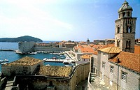 Bell Tower Walls and Harbor Dubrovnik