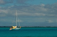 A sailboat on the sea, Tahiti