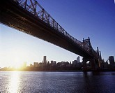 QUEENSBOROUGH BRIDGE. EAST RIVER. MANHATTAN. NEW YORK. USA
