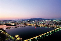 Hangang River,Mapo-gu,Seoul,Korea