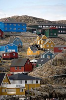 Colorful houses in a remote fishing village.