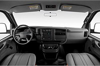 2007 Chevrolet Express 3500 LT in White - Dashboard, center console, gear shifter view