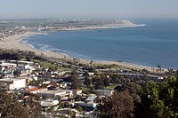 San Buenaventura State Beach and Ventura Harbor.