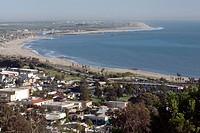 San Buenaventura State Beach and Ventura Harbor.