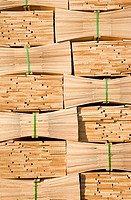Stack of cedar wood shingles, full frame