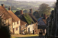 Gold Hill, Shaftesbury. Dorset, England, UK