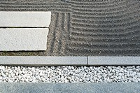 Zen rock garden, close-up