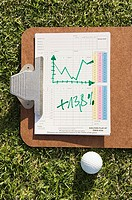 A graph and a golf ball