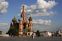 Russia, Moscow, Red Square, St Basils Cathedral