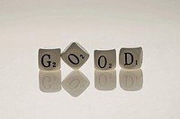 Good made with letter printed dices