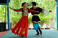 China, Xinjiang, traditional Uyghur dance