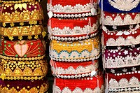China, Xinjiang, Urumqi, Uyghur hats for tourists