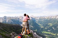 Austria, Salzburger Land, couple embracing