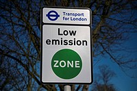 Transport for London Low Emission Zone Sign Belmont London England