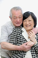 Portrait of senior asian couple having fun together
