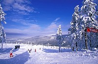 Skiing, Winter sports, Wurmberg, Harz, Germany,