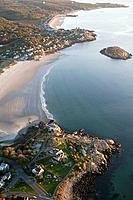 Aerial views of Good Harbor beach, Gloucester, MA, Cape Ann, USA