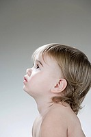 Profile of a baby girl