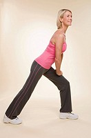 A woman doing lunges