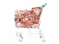 A trolley full of meat