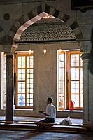 Interior of the Blue Mosque, Sultanhamet, Istanbul, Turkey