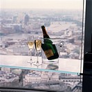 Panoramic views of London at Vertigo 42, the champagne bar at the top of the Nat West Tower