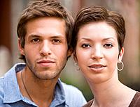 Portrait of young Hispanic couple