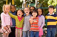 Multi_ethnic children at playground