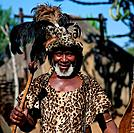 Zulu tribal chief, Shakaland, South_Africa