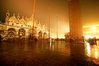 St. Mark´s Square with Marcus Cathedral at night, Venice, Italy, San Marco