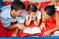 Hispanic family reading