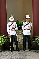 Guards at King´s palace, Bangkok, Thailand