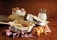 Still life: Savoury pie ingredients