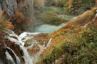 Croatia. Dalmatia - Plitvice Lakes National Park. UNESCO World Heritage List, 1979, 2000. Waterfalls