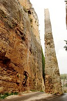 Syria - Latakia. Fortress of Saladin 'Qal'at Salah El-Din'. UNESCO World Heritage List, 2006. Monolith