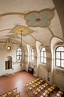 Czech Republic - Southern Moravia - Trebíc. Jewish Quarter. UNESCO World Heritage List, 2003. New, or Rear Synagogue, 18th century. Interior.