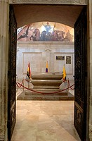 Ecuador - Pichincha Province - Quito. UNESCO World Heritage List, 1978. Interior of the Cathedral. The tomb of Venezuelan Grand Marshal Antonio José d...