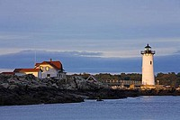 Lighthouse on an island, Portsmouth Harbor Light, Portsmouth Harbor, New Castle, New Hampshire, USA