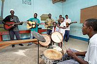 Rock band playing at recreation Center, Musoma. Tanzania