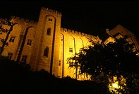 Avignon Provence France Palais des Papes at Night