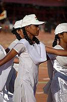 Panjim Goa, India: girls marching during the Republic Day´s commemoration January 26th