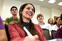 Student Laughing in Class