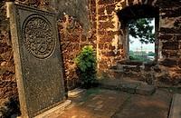 Malaysia, Melaka, the tomb of a Dutchman in the St Paul church