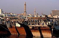 Dubai, Dubai Creek, Emirate of Dubai, United Arab Emirates, Asia, Middle East, UAE, Arabian Peninsula, Boat, boats, sh