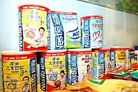 China, Asia, April 2008, baby food, global, international, Nestle, brand, marketing, cans, tins, food, babies, Chinese