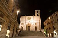 europe, italy, umbria, todi, piazza del popolo, cathedral