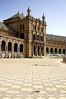 europe, spain, andalusia, seville, plaza de espana