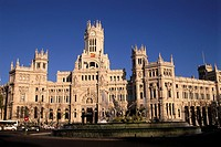 spain, madrid, plaza de cibeles