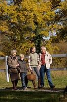 grandparents and grandchildren, countryside