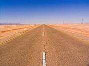 africa, libya, desert, road
